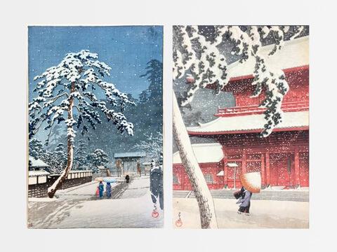 川瀬巴水の木版画を買取いたします。